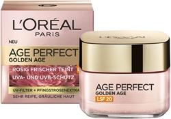 """תמונה של , טיפול פנים אנטי-אייג'ינג, מיצוק ובוהק, לעור בוגר וחיוור, מקדם הגנה 20, עם תמצית אדמונית, 50 מ""""ל L'Oréal Paris Age Perfect Golden Age"""